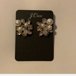 J.crew pearl and crystal earring